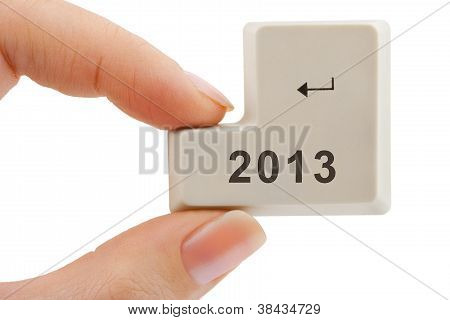 Computer Button 2013 In Hand