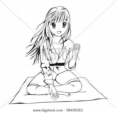 Anime Wushu Girl