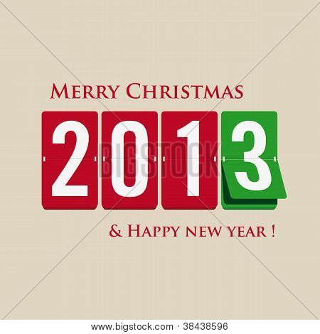 Merry Christmas and happy new year 2013 mechanical count style