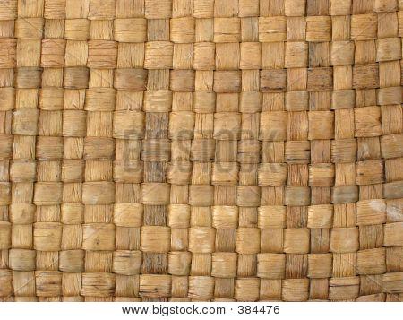 Closeup Of Woven Basket