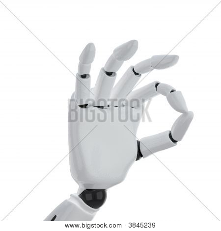 3D Robotic Hand Giving The