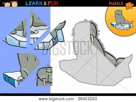 Cartoon Walrus Puzzle Game