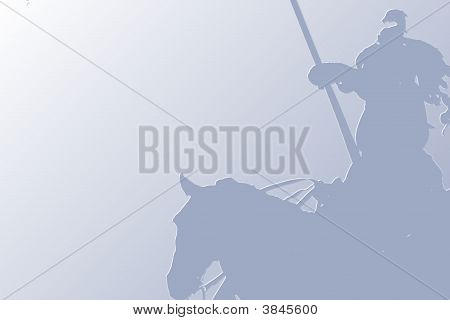 Knight With A Lance On A Horse