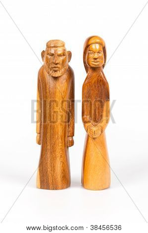 Carving Of Josef And Mary, Part Of The Christmas Stable
