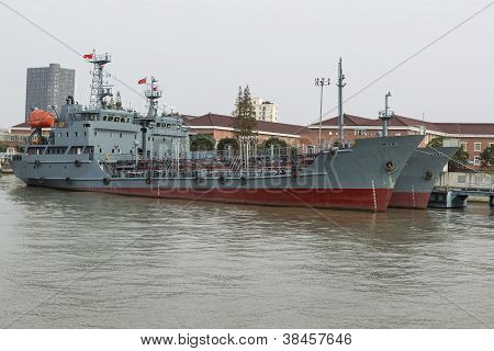 Chinese Navy Ships Docked