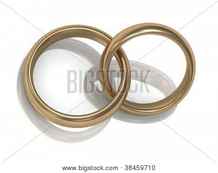 Gold Wedding Ring In The Ring For Newlyweds