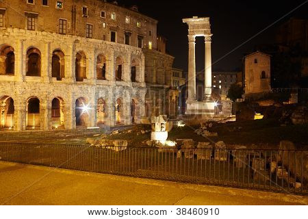 Theatre Of Marcellus And Temple Of Apollo Sosianus, Rome