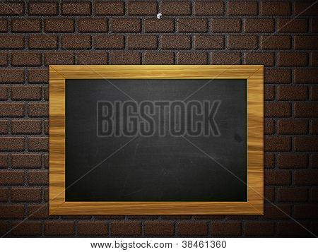Chalkboard Hang On Brick Wall