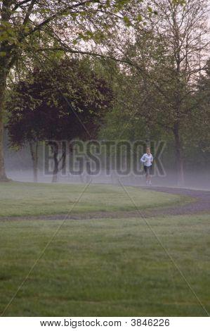 Misty Morning Run
