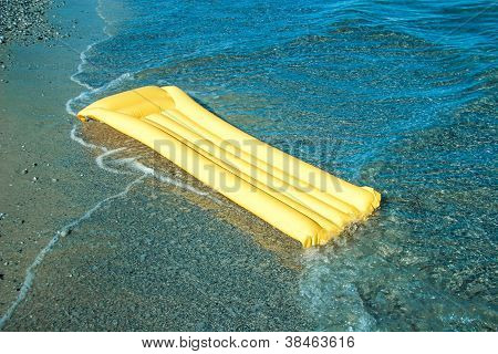 Yellow Floating air mattress