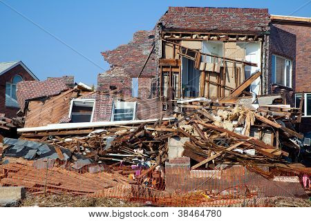 Superstorm Sandy destruction