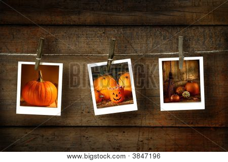 Halloween-Fotos auf distressed Holz