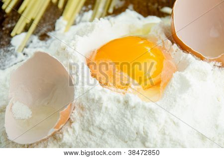 Raw Egg In Flour