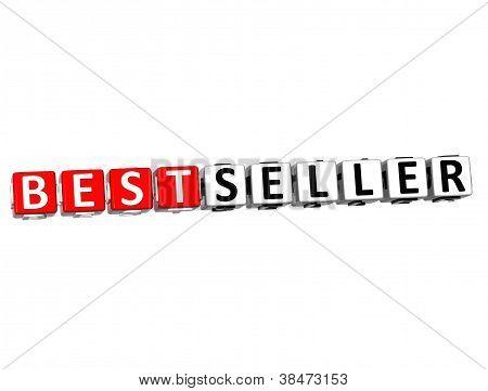 3D Best Seller Button Click Here Block Text