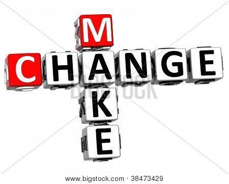3D Make Change Crossword