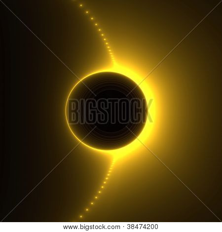 Solar Flare Abstract Fractal Design