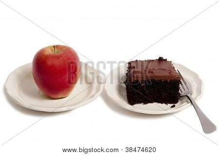 Healthy Apple and Unhealthy Cake