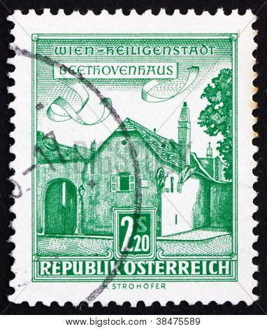 Postage stamp Austria 1962 Beethoven House, Vienna