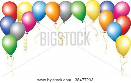 Holiday Border Of Colourfull Balloons
