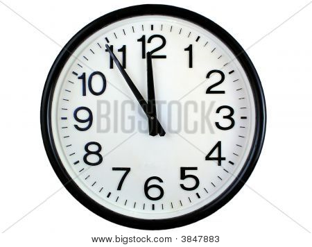 Wall Clock Isolated Over White