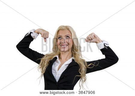 Mujer fuerte posando