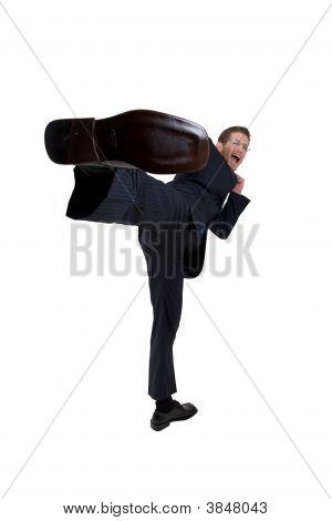 Hombre coleando