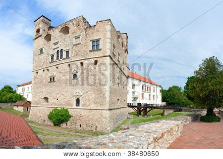 Medieval Aged Stone Royal Castle And Fortress By Noble Family Rakoczi In Sarospatak