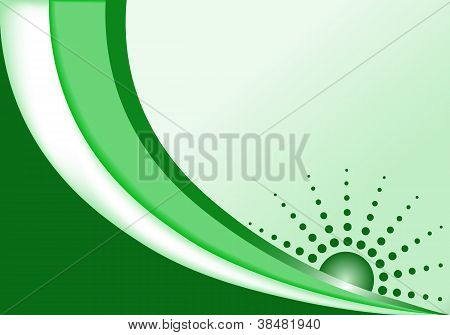 Abstract Background Green, Copy Space For Text