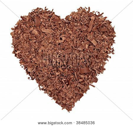 Chocolate Dessert Heart Love Pieces Sweet Food