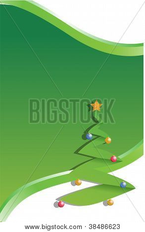 tree christmas illustration green design background