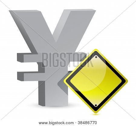 Yen Warning Yellow Sign