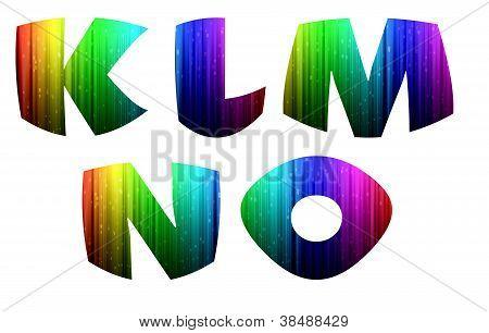 K-o Colorful Computer Alphabet