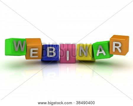 Inscription Silver Letters Webinar