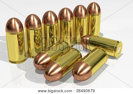 cartuchos de pistola