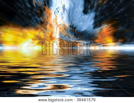 Dramatic Explosion Background