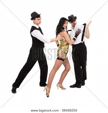 Three  Young Old-fashioned Dancers