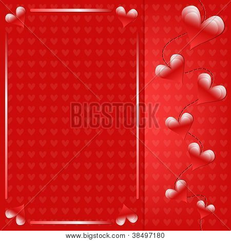 Romantic red heart background