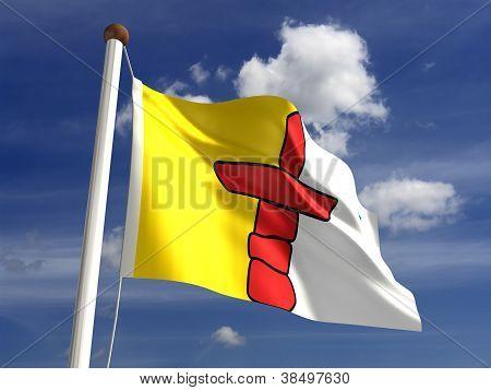 Bandeira de Nunavut Canadá