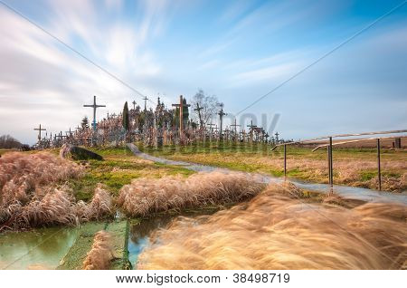 Hill Of Crosses Near Siauliai, Lithuania, Europe.