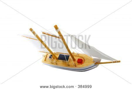 Spielzeug-Segelboot