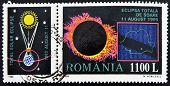 ROMANIA - CIRCA 1998: A stamp printed in Romania shows Total Eclipse of the Sun circa 1998