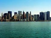 stock photo of new york skyline  - manhattan skyline - JPG