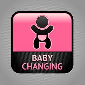picture of diaper change  - Baby changing facilities room symbol - JPG