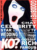 foto of voyeur  - A spoof celebrity magazine front cover page - JPG