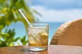 picture of mojito  - A glass of mojito at a beach bar - JPG