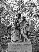 stock photo of william shakespeare  - Statue of William Shakespeare  - JPG