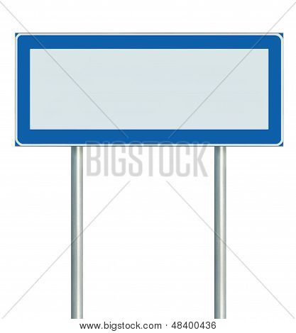 Information Road Sign Isolated, Blank Empty Signpost Copy Space For Icons, Pictograms Large Roadside