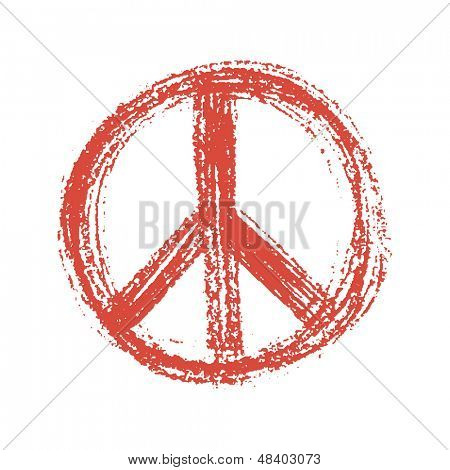 Illustration of pacific symbol on grunge background