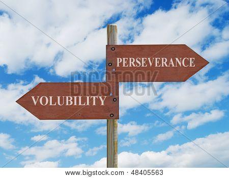 Perseverance Vs Volubility