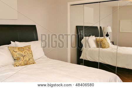 Reflection of modern bedroom